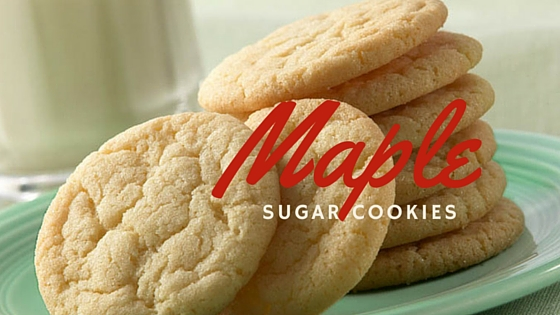 Simple Maple Sugar Cookies